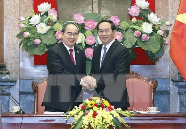 陈大光主席:发挥全民族大团结在建国卫国事业中的作用 hinh anh 1
