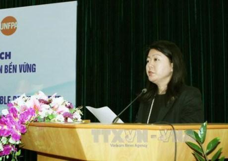 越南内务部向联合国人口基金会驻越副首席代表授予勋章 hinh anh 1