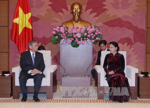 越南国会主席阮氏金银会见日本群马县代表团 hinh anh 1
