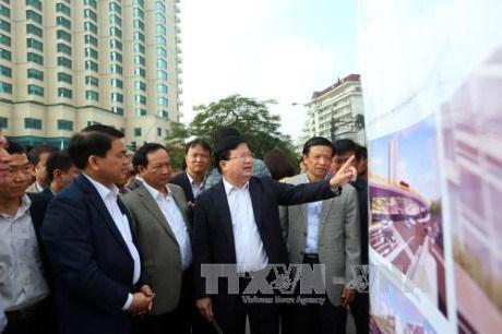 郑廷勇副总理要求河内市注重开展交通和环境各重点项目 hinh anh 1