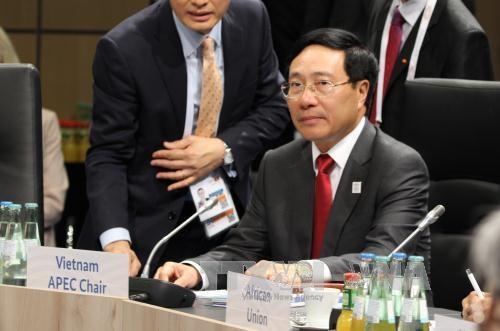 越南政府副总理兼外长范平明在二十国集团非正式外长会议上的系列活动 hinh anh 1