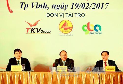 阮春福总理:对乂安省投资的投资商应制定长期有效的投资战略 hinh anh 1