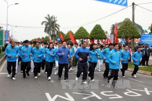 2017年全民健康奥林匹克长跑日活动预计吸引720万人参加 hinh anh 1