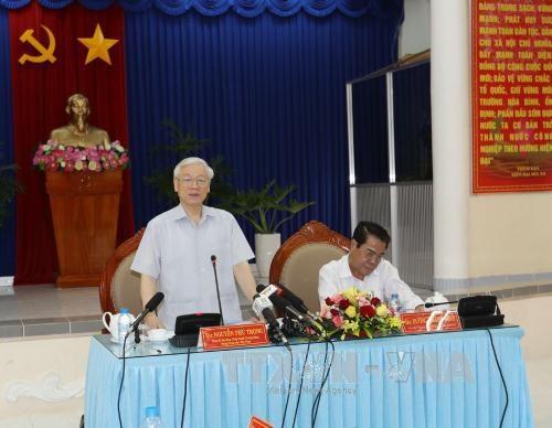 阮富仲总书记:金瓯省应进一步发展海洋经济和林业经济 hinh anh 1