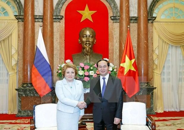 国家主席陈大光:希望越俄经贸合作关系实现突破 hinh anh 1