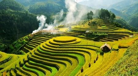 越南安沛省姆庚寨梯田跻身全球五十大最美的旅游景点 hinh anh 1