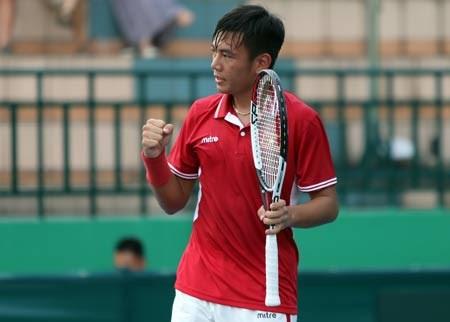 2017年中国男网F2未来赛:李黄南晋级次轮 hinh anh 1