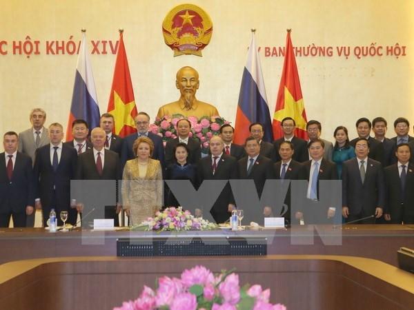 俄罗斯联邦委员会主席圆满结束对越正式访问之旅 hinh anh 1