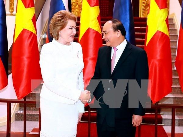 俄罗斯联邦委员会主席高度评价与越南的关系 hinh anh 1