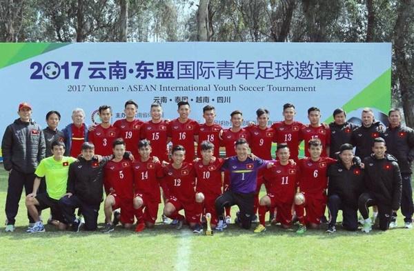 2017年云南-东盟国际青年足球邀请赛:越南U18队获首胜 hinh anh 1