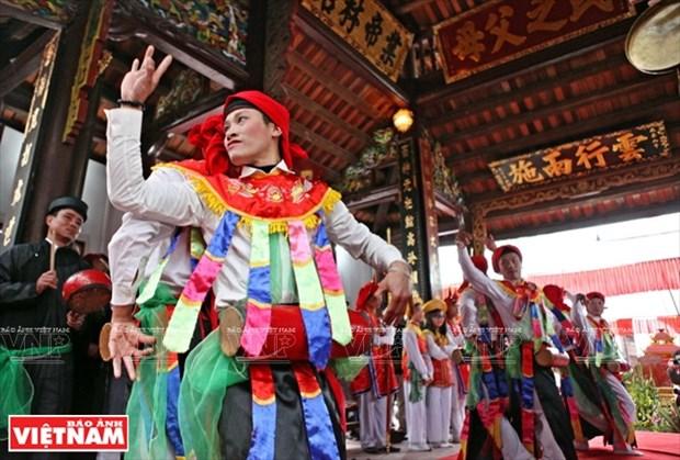 河内清池县朝曲村的传统艺术——蓬舞 hinh anh 10