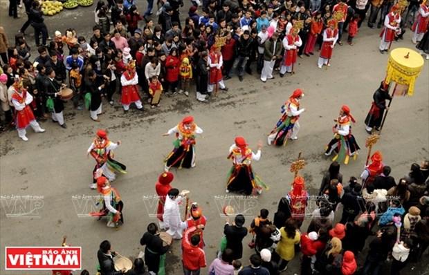 河内清池县朝曲村的传统艺术——蓬舞 hinh anh 11