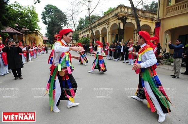 河内清池县朝曲村的传统艺术——蓬舞 hinh anh 15