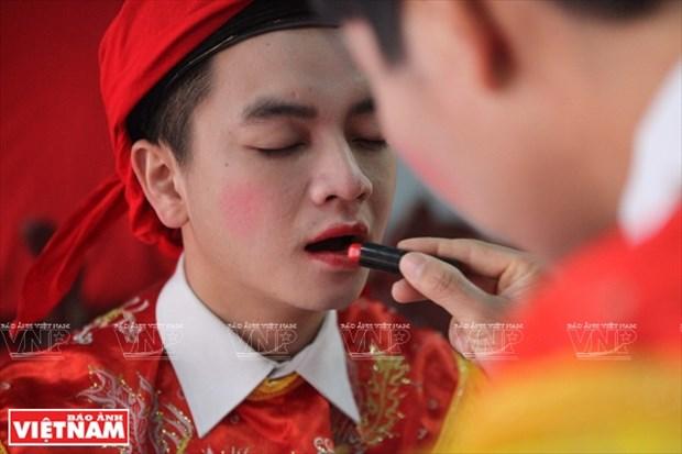 河内清池县朝曲村的传统艺术——蓬舞 hinh anh 2