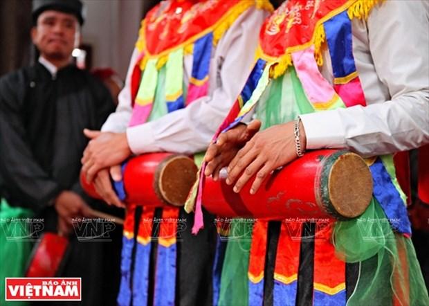 河内清池县朝曲村的传统艺术——蓬舞 hinh anh 5