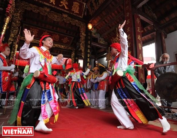 河内清池县朝曲村的传统艺术——蓬舞 hinh anh 7