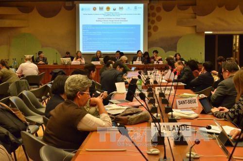 越南呼吁国际社会携手减轻气候变化对儿童权利产生的影响 hinh anh 1