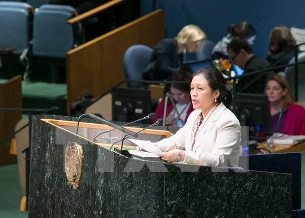 越南常驻联合国代表积极建言献策 响应世界野生动植物日 hinh anh 1