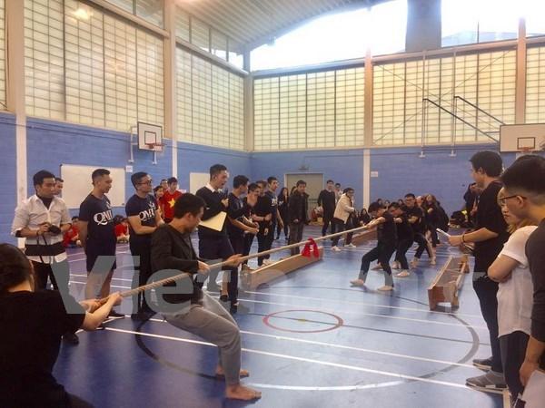 在英越南留学生体育活动热闹非凡 hinh anh 1