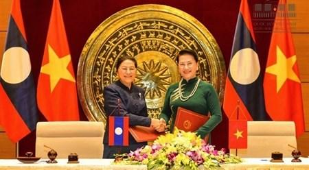 越老两国国会签署合作协议 hinh anh 1