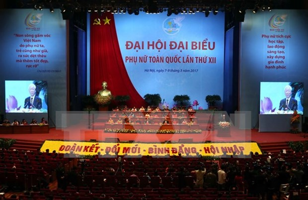 第十二次越南全国妇女代表大会在河内开幕 阮富仲总书记出席并发表讲话 hinh anh 1