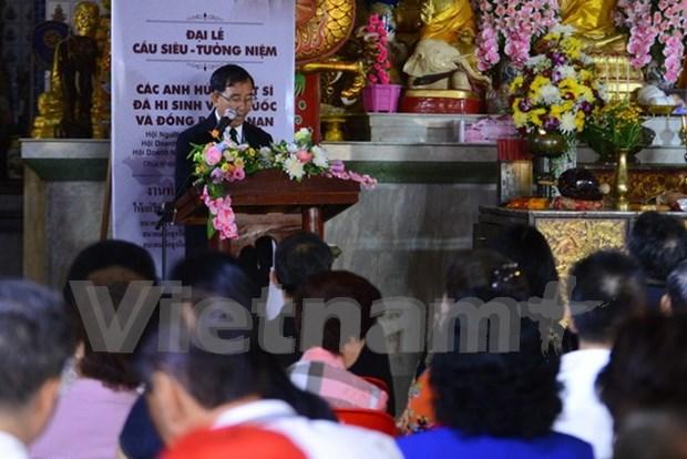 旅居泰国越南人为英烈们举行超度法会 hinh anh 1