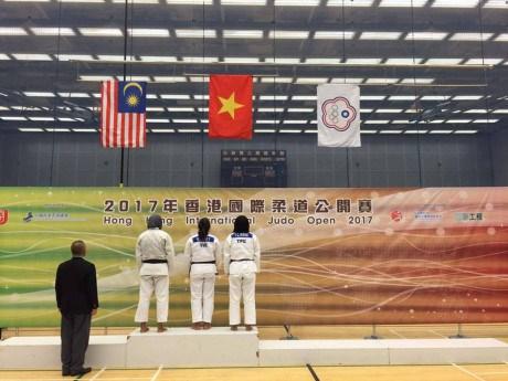 2017年香港国际柔道公开赛:越南队获8枚奖牌 hinh anh 1