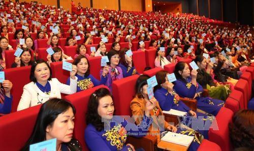 第十二次越南全国妇女代表大会选举产生新一届妇联执行委员会 hinh anh 1