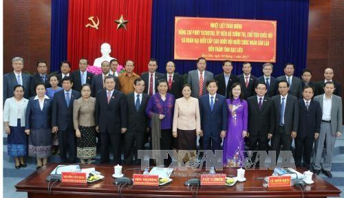 老挝国会主席巴妮·雅陶都访问越南薄辽省 hinh anh 1