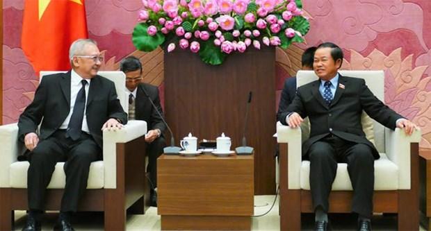 越南国会副主席杜伯巳会见泰越友好议员小组代表团 hinh anh 1