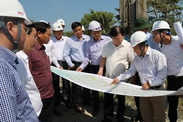 郑廷勇副总理:力争将忠良-美顺高速公路项目提前一年竣工通车 hinh anh 1