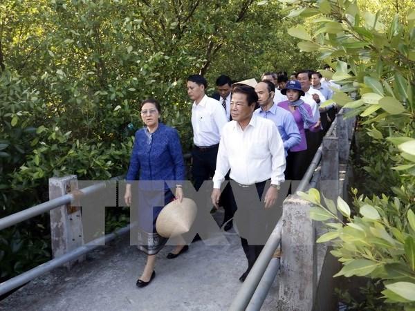 老挝国会主席巴妮•雅陶都圆满结束对越南的正式友好访问 hinh anh 1