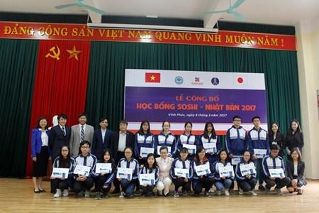 269名河内学生获得2017年日本创志奖学金 hinh anh 1