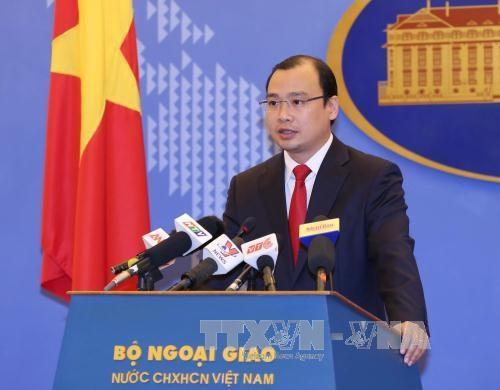 越南外交部发言人黎海平:要求中国尊重越南主权和国际法 hinh anh 1