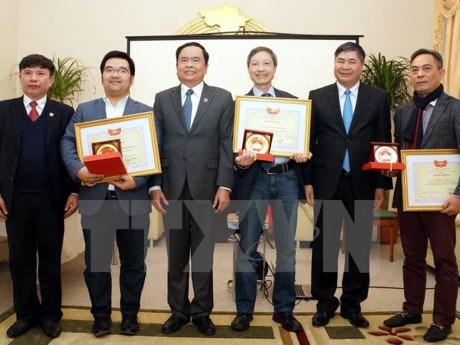 越南祖国阵线中央委员会高度评价旅居德国越南人的贡献 hinh anh 1