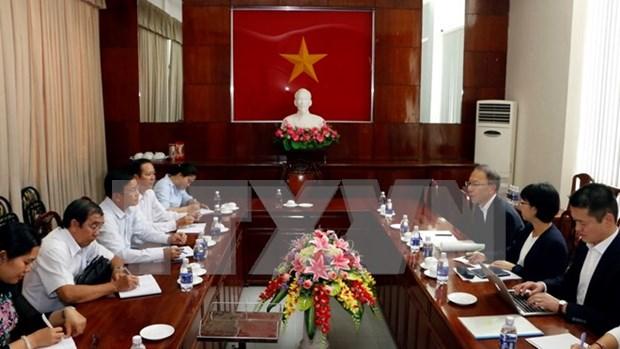 越南西南部事务指导委员会与日本广岛县加强合作 做好环境卫生整治工作 hinh anh 1