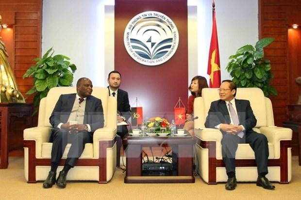 越南与安哥拉加强电信与信息技术领域合作 hinh anh 1