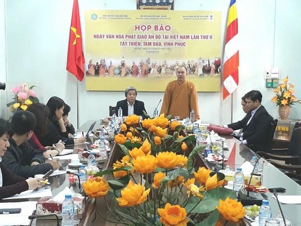 第二次印度佛教文化日将在越南永福省举行 hinh anh 1