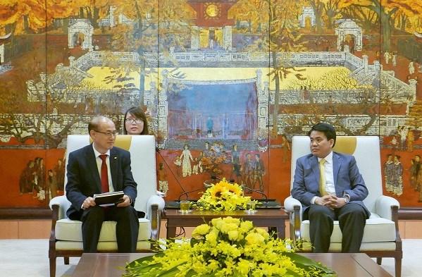 河内市欢迎越南韩国商会在该市兴建总部 hinh anh 1
