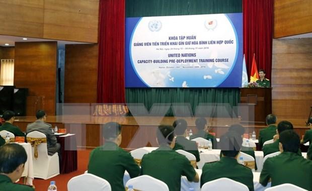越南国防部领导会见荷兰国防部工作代表团 hinh anh 1