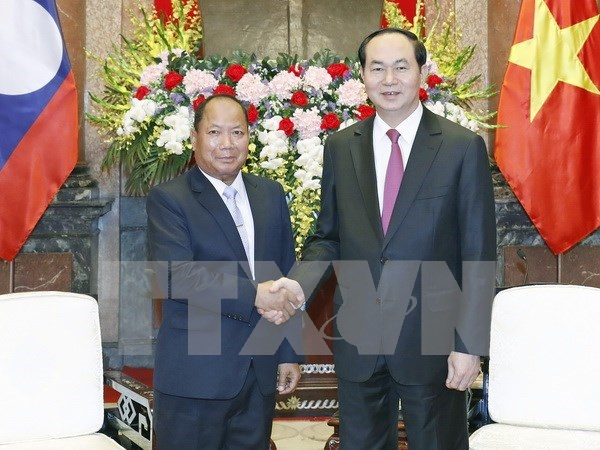 越南国家主席陈大光会见老挝安全部部长 hinh anh 1