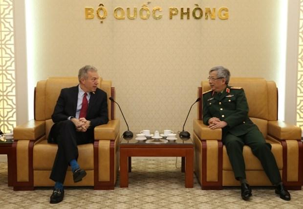 越南国防部副部长阮志咏上将会见美国驻越大使 hinh anh 1