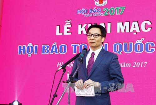 武德儋副总理:着力提高新闻工作者思想政治素质和职业道德水平 hinh anh 1
