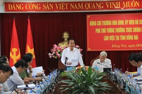 越南政府副总理:同奈省应优先引进高科技项目和环境友好型项目 hinh anh 1