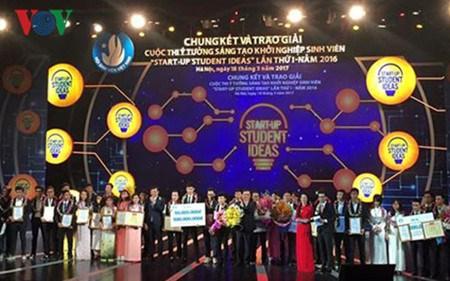 越南大学生创新创业构想比赛全国总决赛暨颁奖仪式在河内举行 hinh anh 1
