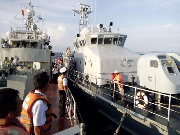 越柬海军年度海上联合军事演习圆满结束 hinh anh 1