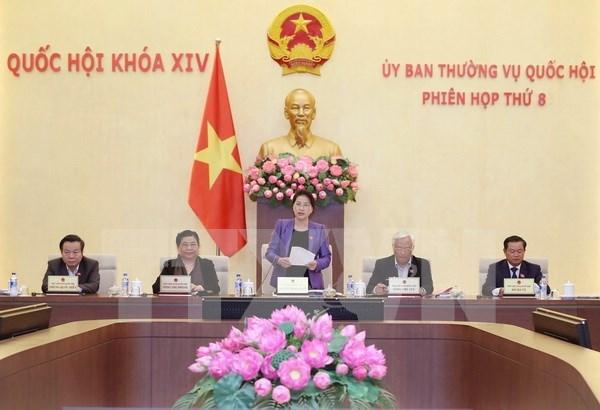 越南第十四届国会常务委员会第八次会议圆满完成各项议程 hinh anh 1