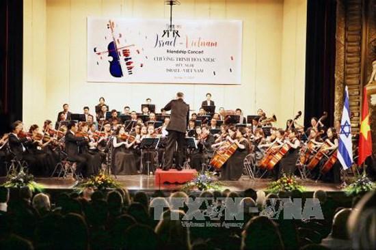 以色列——越南友好音乐会在河内举行 进一步加深越以文化艺术合作 hinh anh 1