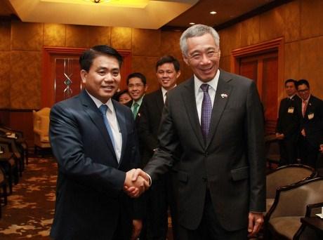 新加坡总理李显龙:新加坡愿同河内加强高科技领域合作 hinh anh 1