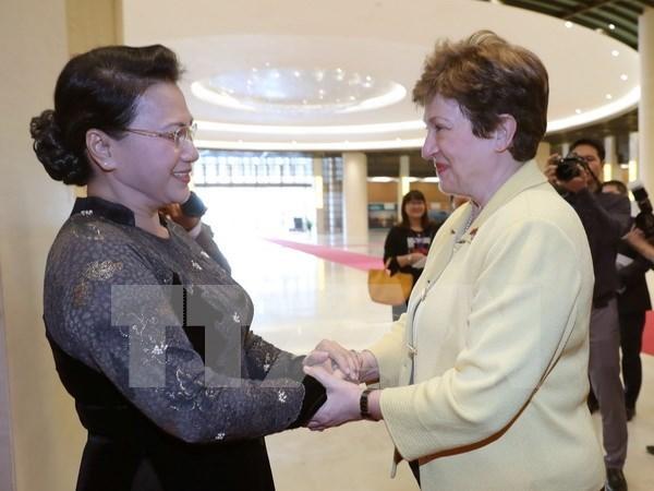 国会主席阮氏金银:越南承诺有效利用世行的援助资金 hinh anh 1